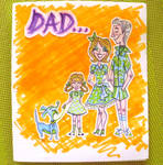50s Family Father's Day Card