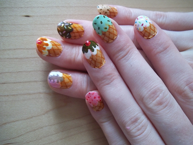Icecream Cone Nails 2