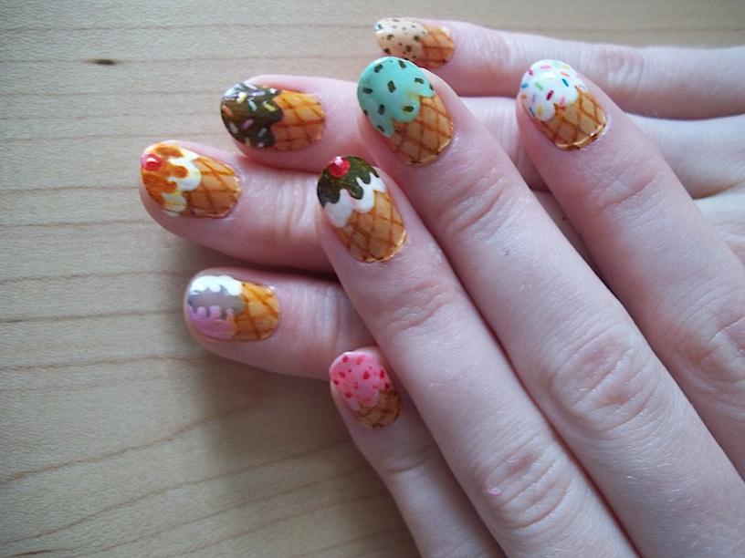 Icecream Cone Nails 2