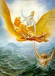 Lord Vishnu saves his devotee