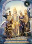 Sita-Rama and Laksman+Hanuman