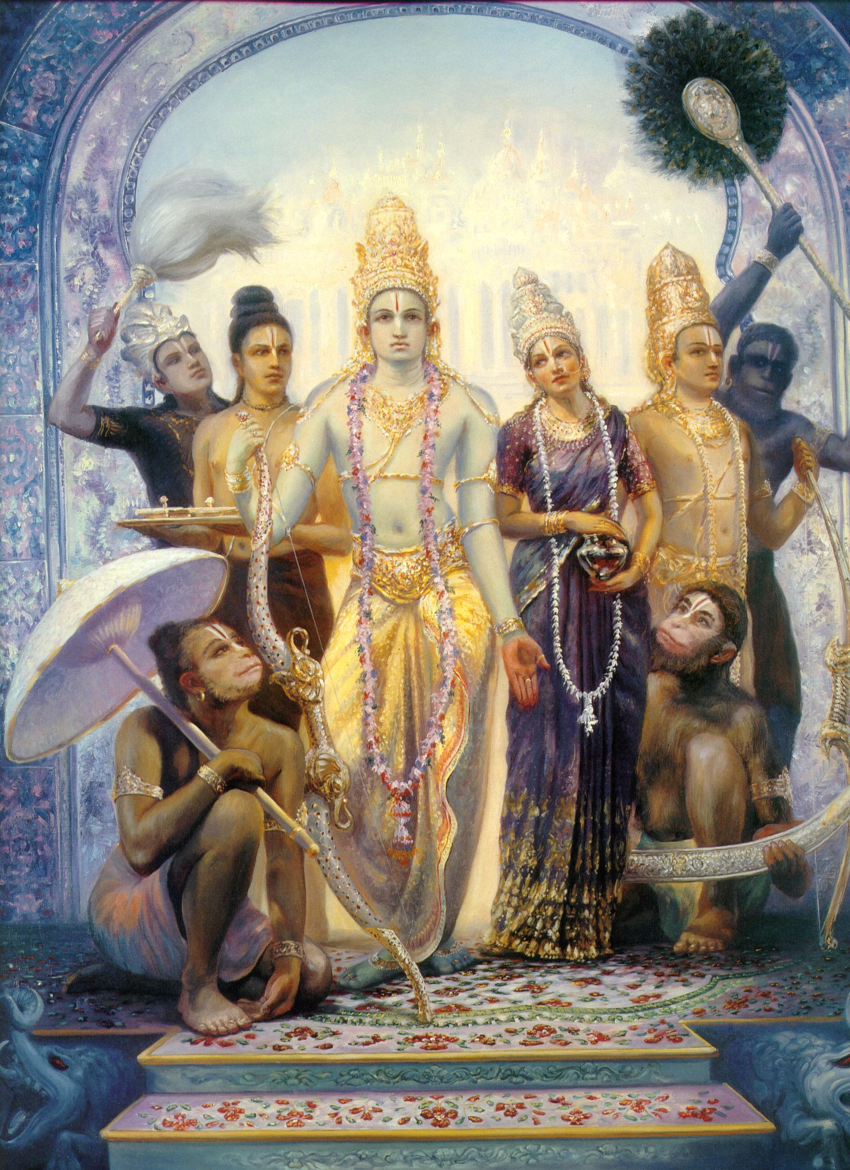 Good Wallpaper Lord Ram Darbar - sita_rama_and_laksman_hanuman_by_fridolinfroehlich-d3gmzsh  Best Photo Reference_47585.jpg
