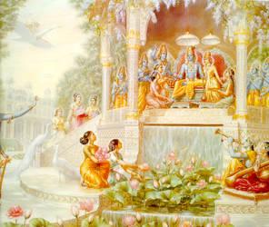 Laksmi-Narayan in Vaikuntha