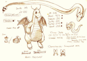 My Dragonite in Pokemon X by Yui-the-Echidna