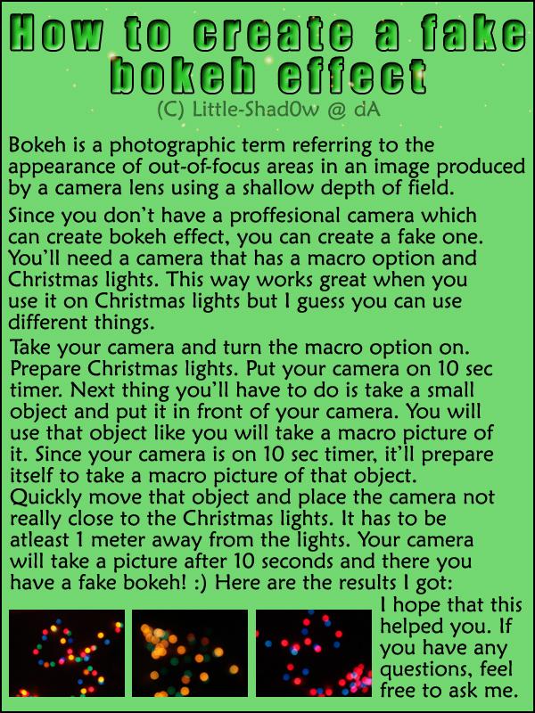 Fake bokeh effect tutorial