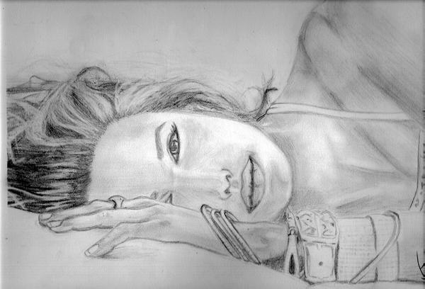 Angelina Jolie drawing by Azorea