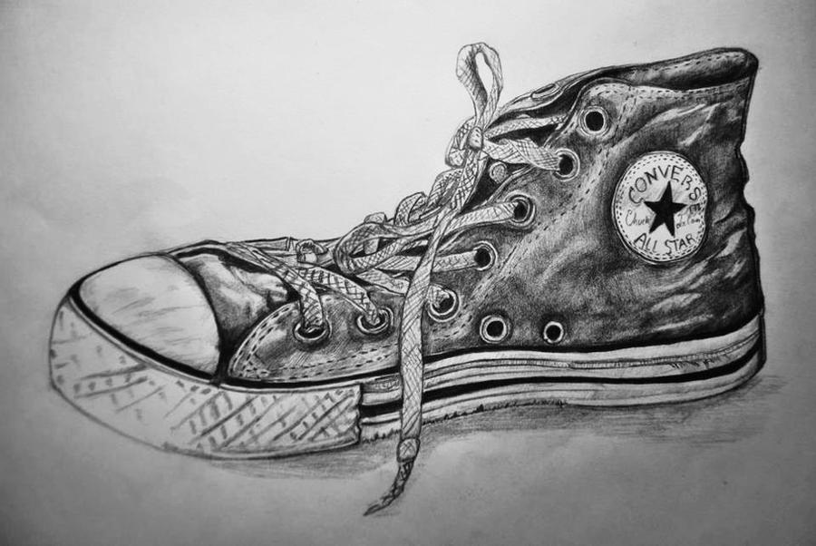 how to draw converse from the side