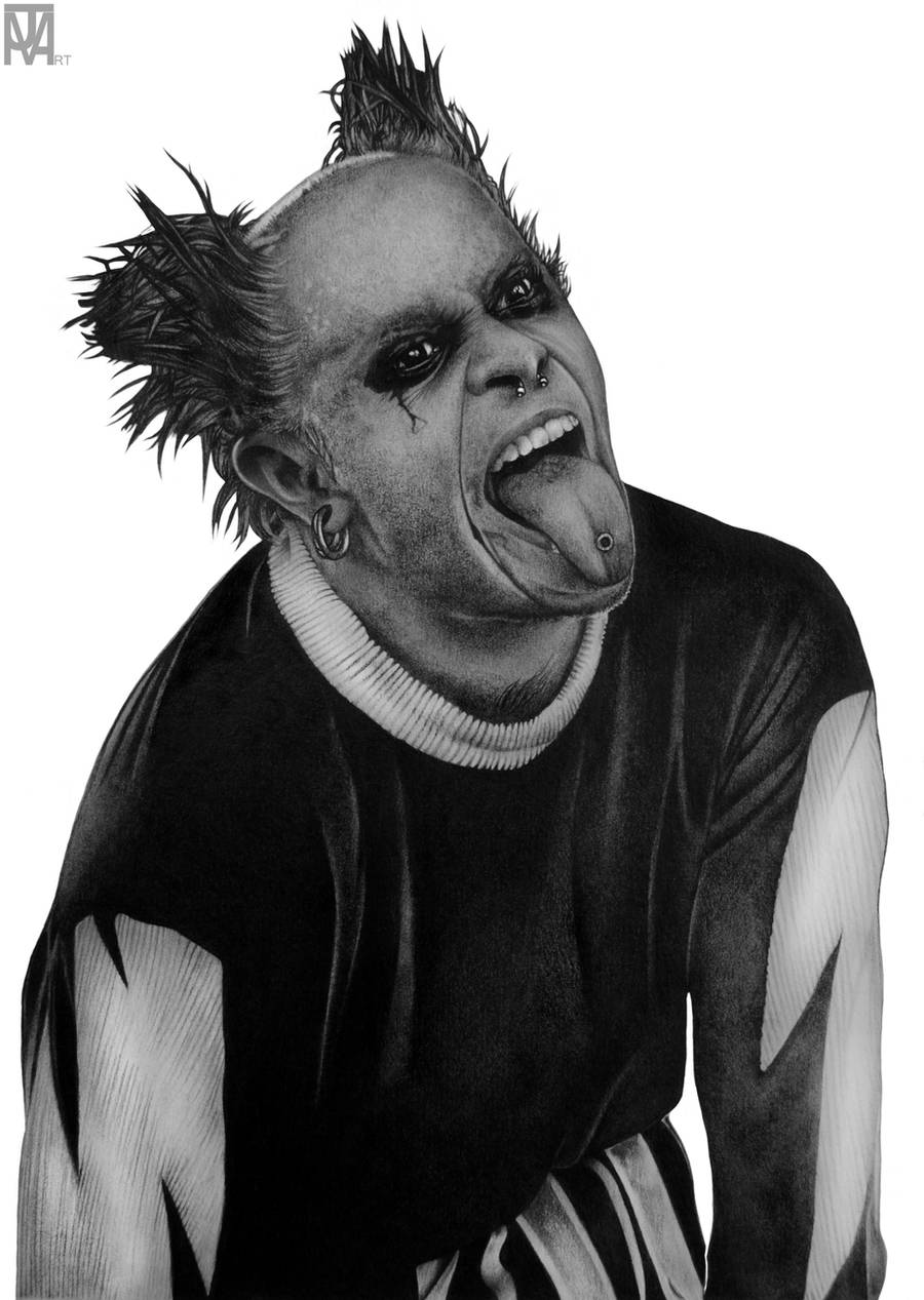 Keith Flint (The Prodigy) by JamesMacGee