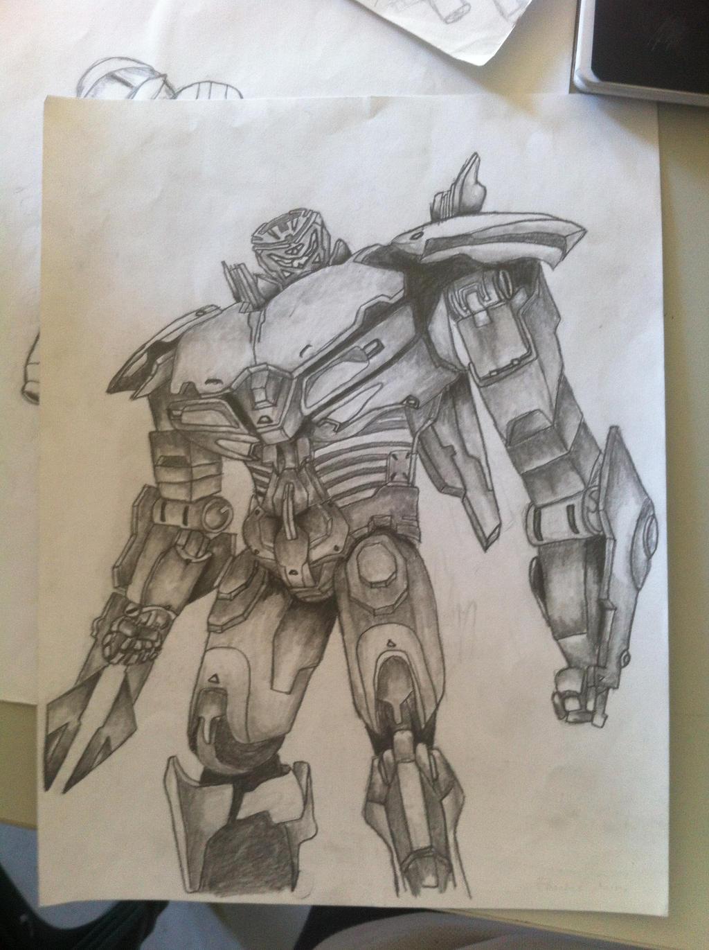 Pacific Rim Striker Eureka drawing by Reginaught on DeviantArt Pacific Rim Scunner Drawing
