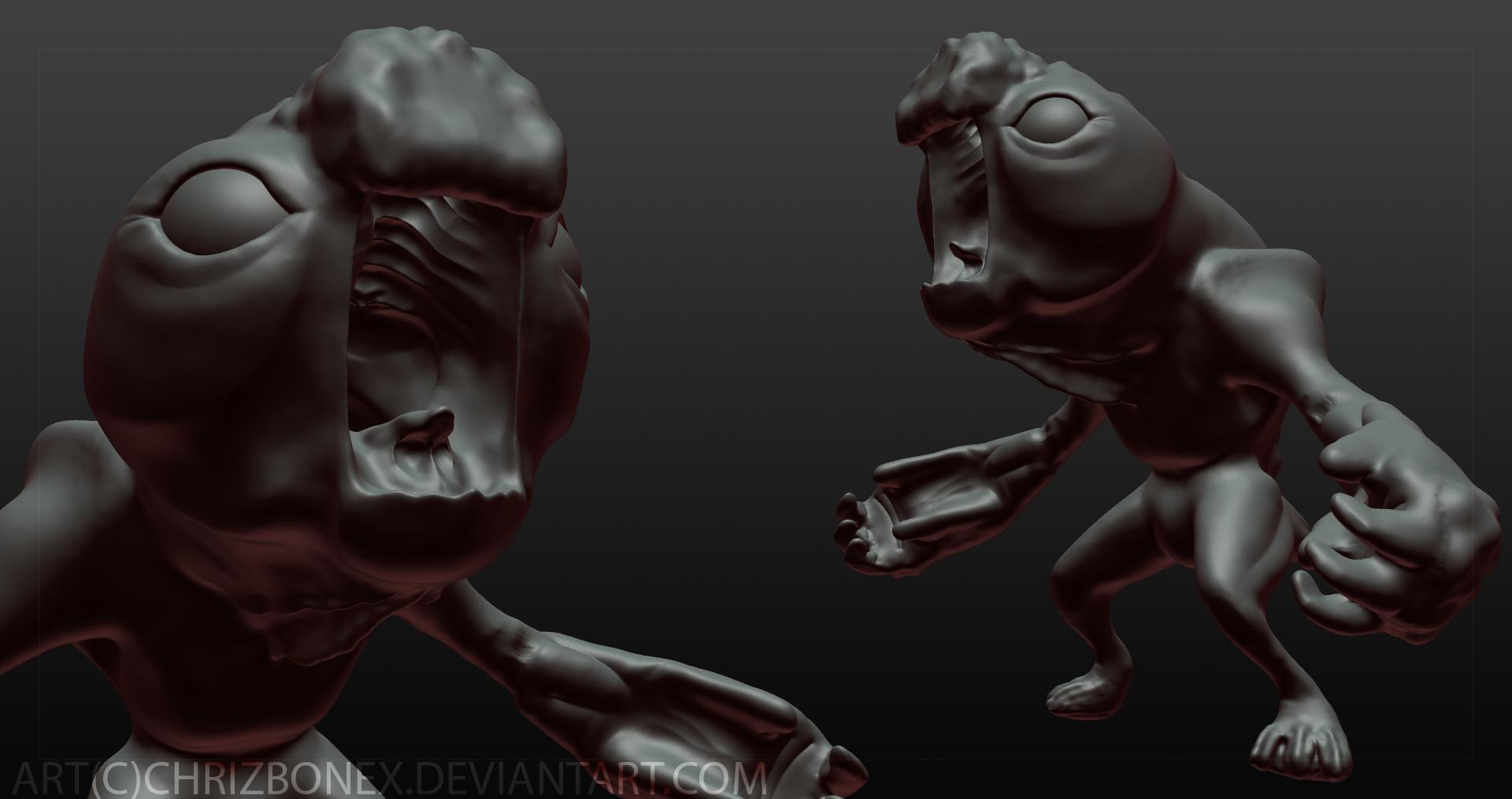 Monster Render (work in progress) by CptBonex on DeviantArt