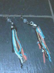 Hand made earrings by RavenGloss0lemon