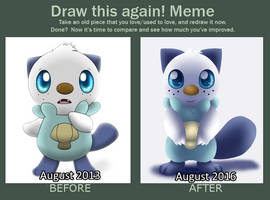 Draw this again!: Oshawott by Bokue