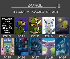 Bokue's 2010 - 2019 Decade Summary of Art