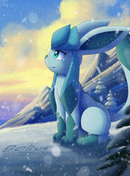 Enjoying some hypothermia with Glaceon