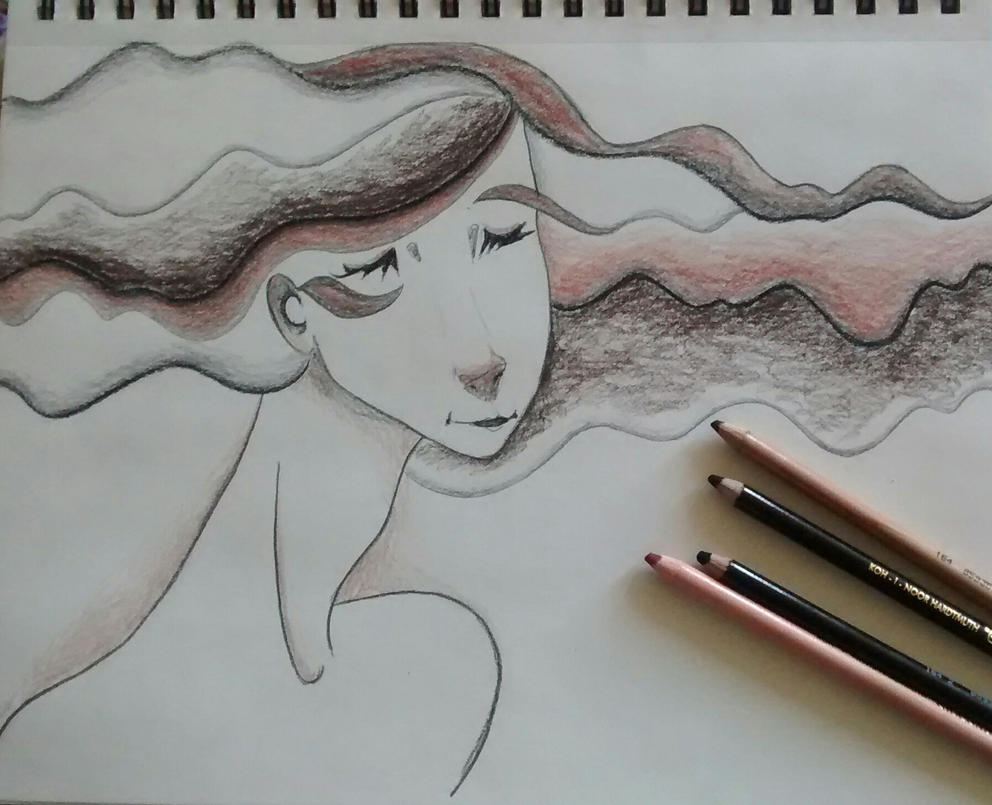 Charcoal lady by xxloudsilencexx