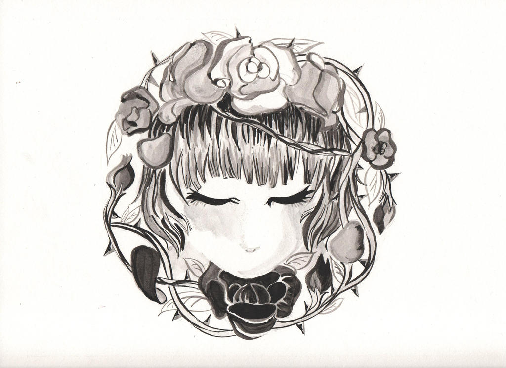 Ink Roses by xxloudsilencexx