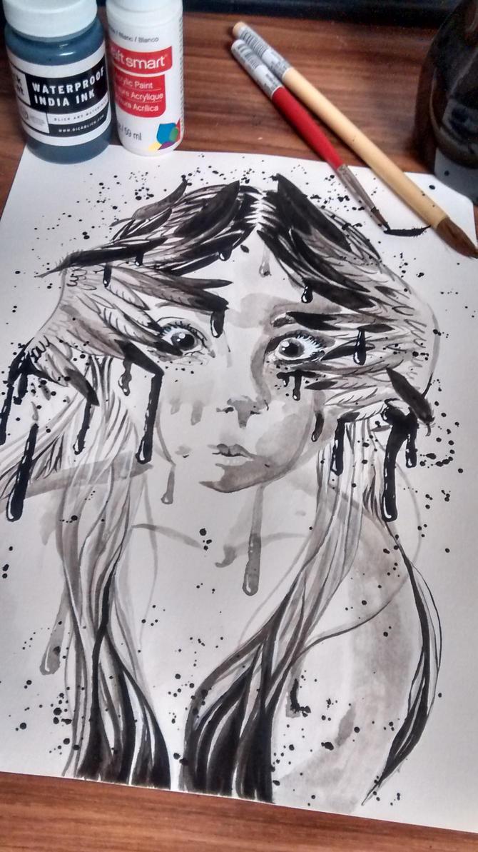 Raven Girl by xxloudsilencexx