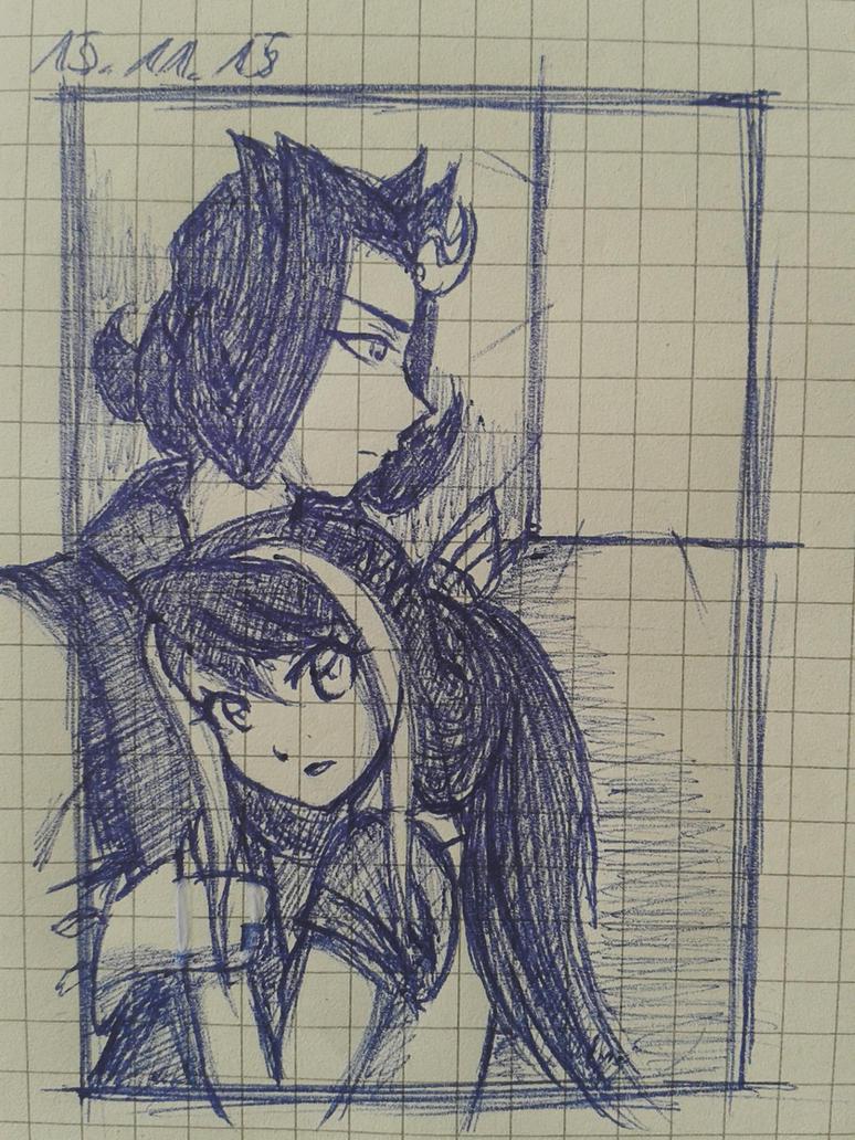 RyogaXRuri Sketch by EvilAngelofKC17