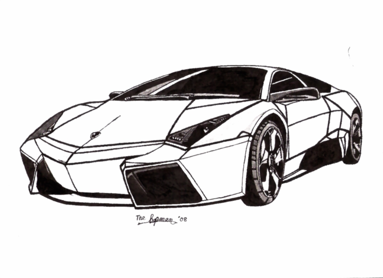 Coloring Pages Lamborghini Free Car Cars Lambo Pictures