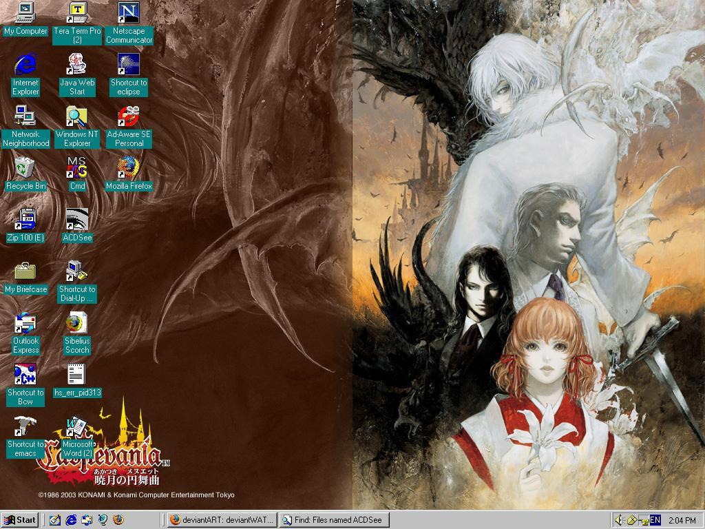 Castlevania Desktop by eclipsearikado