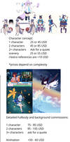 Commission sheet and information in desc.!