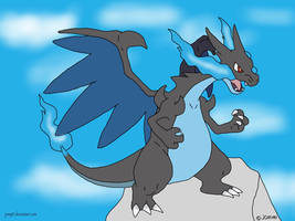 Mega charizard x by jomy10