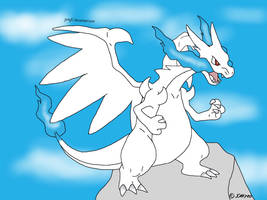 Mega charizard x drawing plate by jomy10