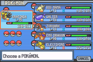 Pokemon light platinum team by jomy10