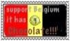 Belgium chocolate stamp by jomy10