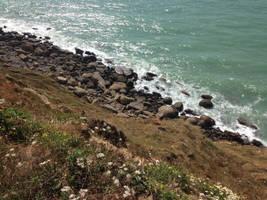 Stone beach (cap gris-nez) by jomy10