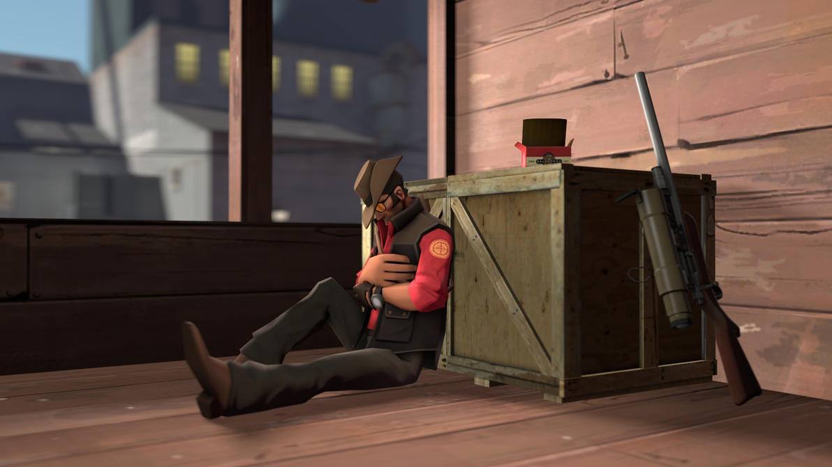 TF2 Sniper Sleeping Wallpaper 1600x900 By TheGreatNibrok