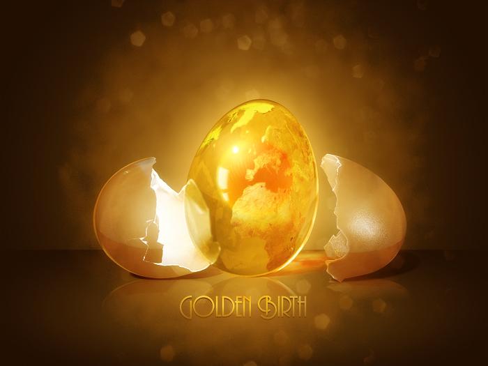 Golden Birth by malmu