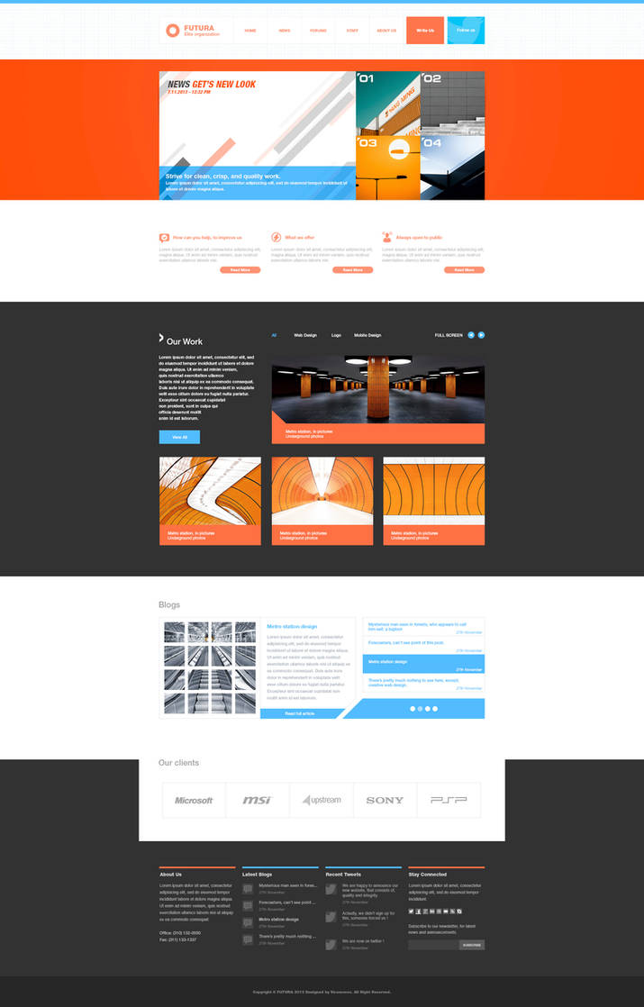 FUTURA Multipurpose web template - For Sale