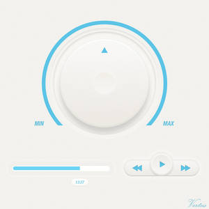 Minimal Media Player Concept GUI