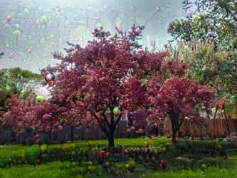 Psychedelic Crabapple Tree - DeepDream by jag140
