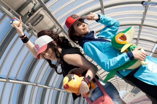 Touya and Touko . Pokemon Black and White cosplay