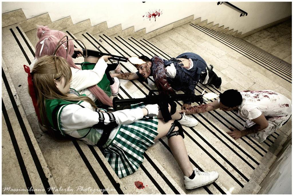 Rei Miyamoto and Saya Takagi - HOTD cosplay by Rael-chan89