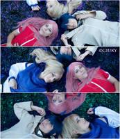 NARUTO kunoichi trio: Sakura, Ino and Hinata .