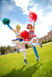 Eli and Maki cheerleaders Love Live by Rael-chan89