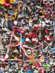 Wall of Chewing Gum Closeup by williamMalone