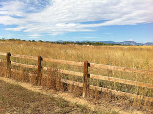 Fence and Mountains 1