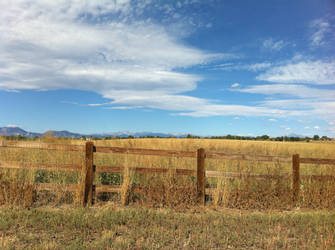 Fence and Mountains 2