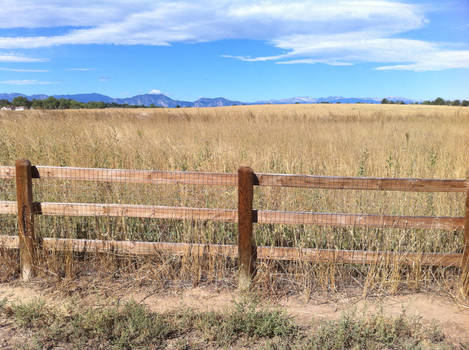 Fence and Mountains 3