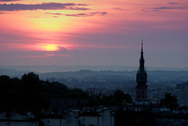 Cracow sunset