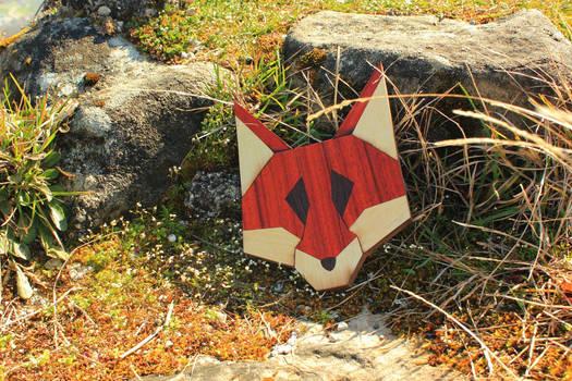 fox head #1 with padouk