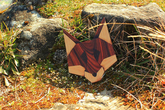 fox head #2 with rosewood