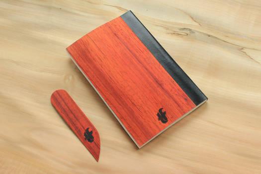 notebook in wood #2 Padouk