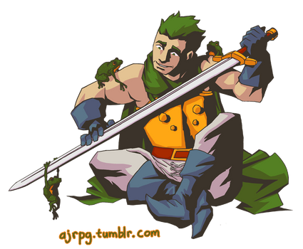 Glenn the Frog Knight from Chrono Trigger