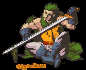 Glenn the Frog Knight from Chrono Trigger