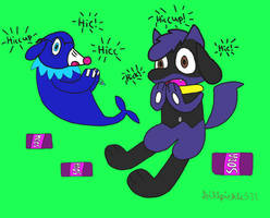 Trade - A bad case of hiccups by Dylan-the-Popplio